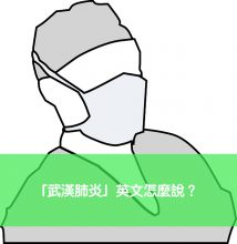 武漢肺炎 英文